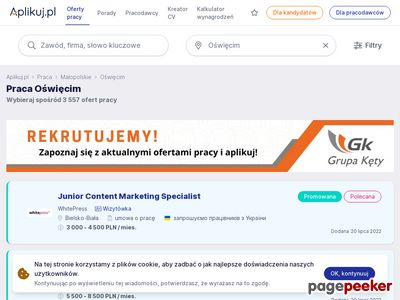 Praca Oświęcim - portale regionalne Joanna Trojanowska