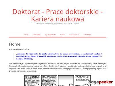 pracedoktorskie.com.pl – konsultacje dla doktorantów