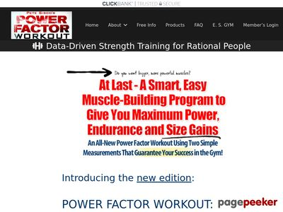 Power Factor Workout: Maximum Power, Endurance and Size Gains edition.