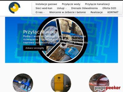 Projekt instalacji gazowej, projekt przyłącza kanalizacyjnyego i wodnego Poznań