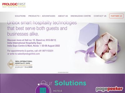 Prologic First - Proven and integrated hospitality software solutions Screenshot