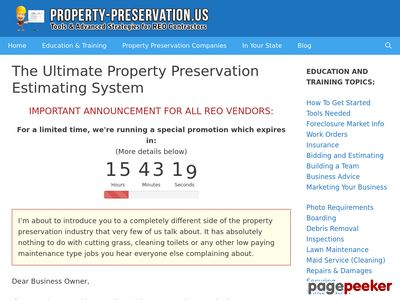 The Ultimate Property Preservation Estimating System