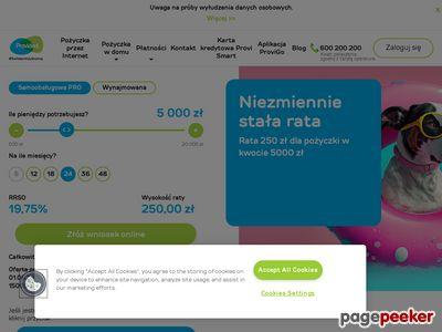 Szybkie pożyczki provident.pl