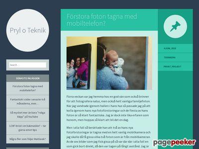 Skärmdump av prylotek.se