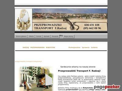 Transport krajowy i międzynarodowy-Przeprowadzki Białystok