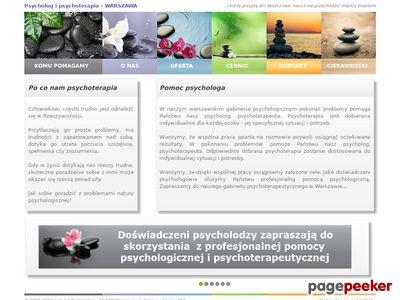 Psycholog Warszawa, Psychoterapia Warszawa