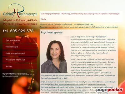 Gabinet psychoterapii - Psycholog Magdalena Polewaczyk-Okuła