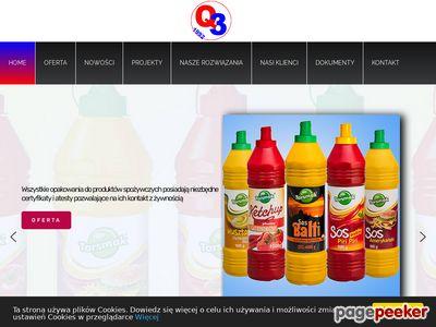 P.P.H.U. Q3 s.c. Producent butelek z tworzyw sztucznych.