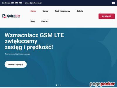 Montaż anten lte Warszawa - www.qnet.com.pl