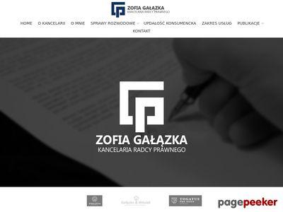 Kancelaria Radcy Prawnego Zofia Gałązka