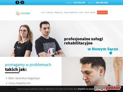 Gabinet rehabilitacyjny, masażysta, rehabilitacja Nowy Sącz - Active Med