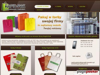 RAPID-PAK- torby reklamowe z nadrukiem
