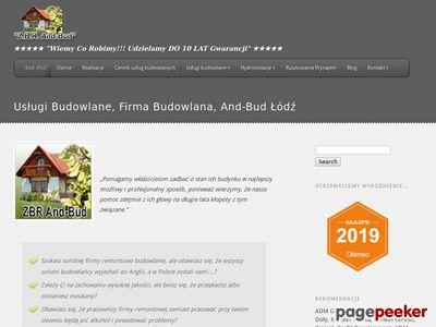 Usługi Budowlane And-Bud, Firma Budowlana Łódź