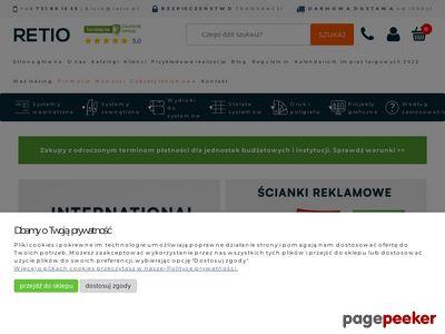 Ścianki reklamowe, potykacze, rollupy - Retio.pl