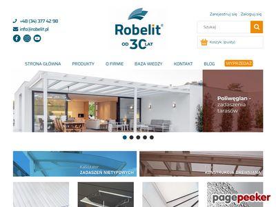 Robelit.pl - daszki, zadaszenie, przeszklenia, poliwęglany, płyty PET, poliwęglan, bezpieczne szkło