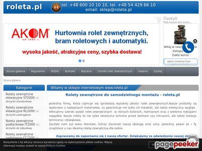 Rolety PCV