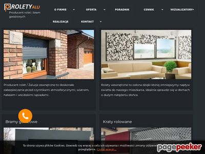 RoletyAlu - strona producenta rolet, żaluzji oraz bram