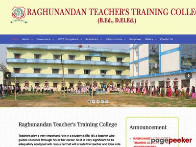 RAGHUNANDAN TEACHERS TRAINING COLLEGE