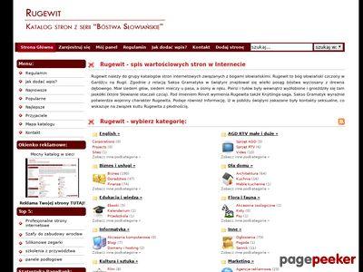 Rugewit - katalog z mocą