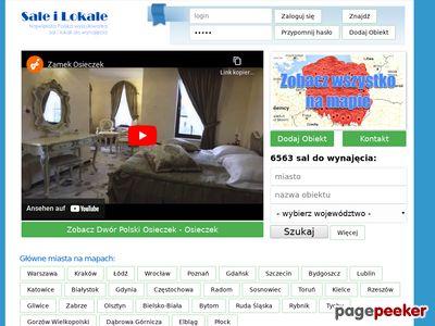 Baza sal do wynajecia - 6500 sal
