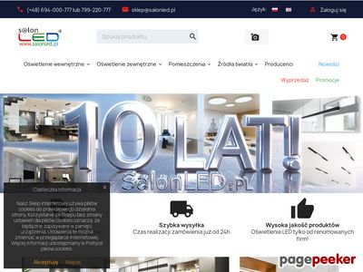Lampy LED profile LED, taśmy LED, kinkiety LED - SalonLED