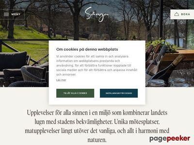 Skärmdump av sanga-saby.se