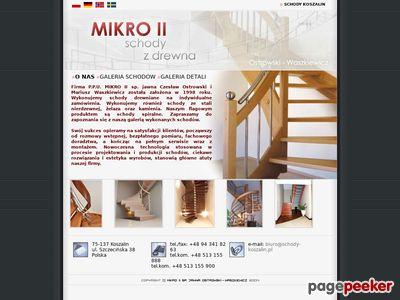 Schody Koszalin, balustrady
