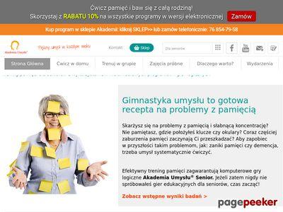 www.senior-akademia.pl Trening pamięci dla seniorów