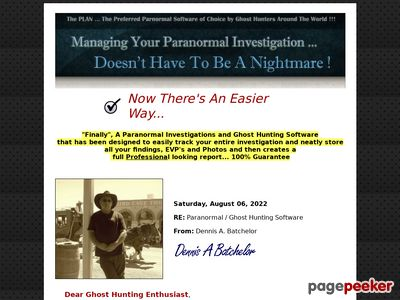 #1 Paranormal Ghost Hunting Software