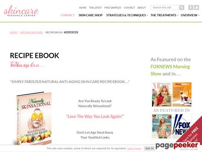 Recipe eBook – Natural Anti-Aging Skin Care