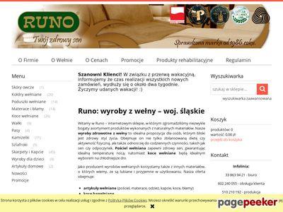 Sklep firmowy RUNO - pościel wełniana, koce, konfekcja