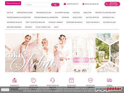 Slubnezakupy.pl - sklep z dodatkami ślubnymi