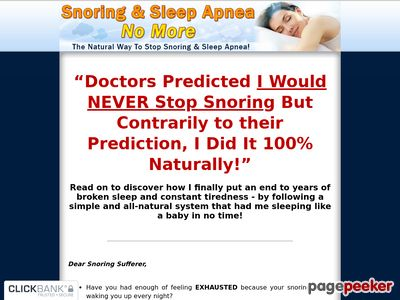 Snoring & Sleep Apnea No More – The Natural Way To Stop Snoring And Sleep Apnea