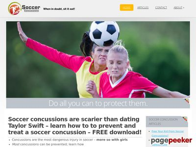Concussion From Soccer? Prevent and treat a concussion from soccer!