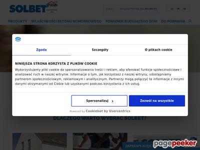 Ściany jednowarstwowe w technologii firmy Solbet