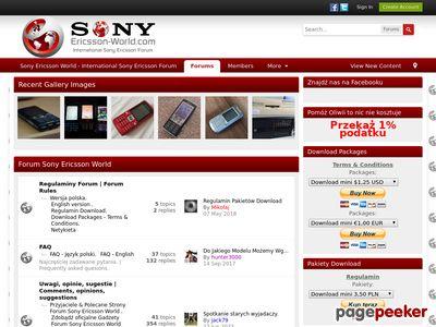 Sony Ericsson World - International Sony Ericsson Forum