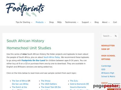 South African History – www.south-african-homeschool-curriculum.com