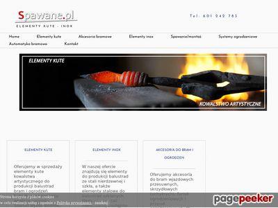 Elementy kute Akcesoria bramowe - Spawane.pl