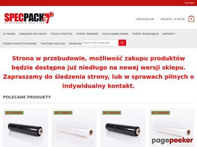 Specpack - hurtownia opakowań foliowych i tekturowych