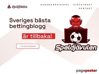 Skärmdump av speldjavulen.se