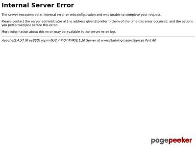 Skärmdump av stadningmalardalen.se