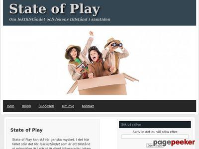 Skärmdump av stateofplay.nu