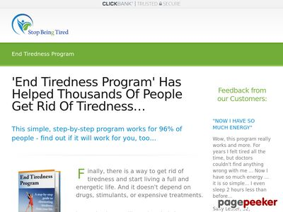 'End Tiredness Program' Has Helped Thousands Of People Get Rid Of Tiredness… – Stop Being Tired