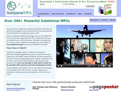 Subliminal Messages - Over 200 Subliminal MP3s
