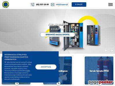 Specjalistyczny sprzęt przeciwpożarowy - www.supon.pl