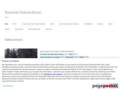 Skärmdump av susannehalvardsson.se