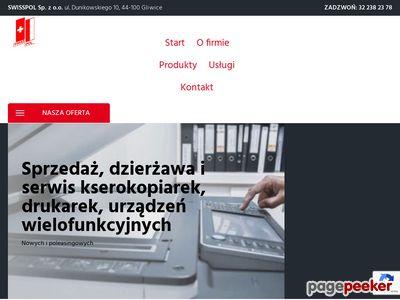 Swisspol sp z o.o. sprzedaż kserokopiarek śląskie
