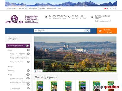 Www.sygnatura.com.pl - Beskid Niski mapa