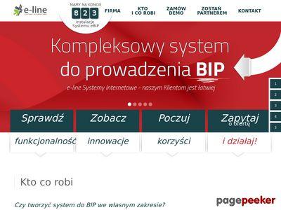 Oferta BIP zautomatyzowanego przez E-Line.
