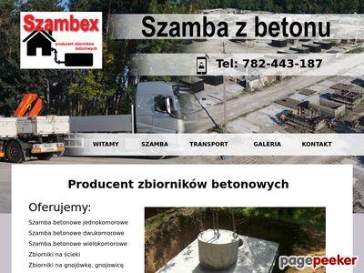 Szamba betonowe Szambex
